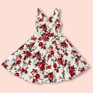 Eva Rose Red Rose Fit & Flare Dress